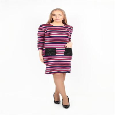balck&white striped pocket dress fashion