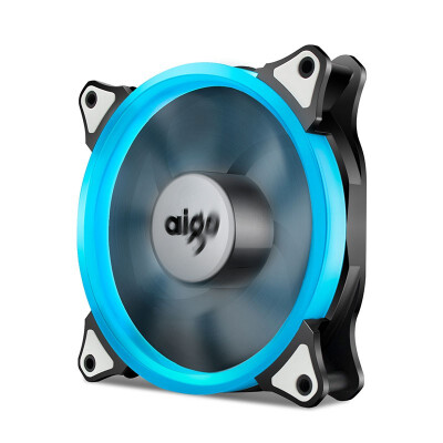 Aigo Halo LED Ring Fan 120mm 12cm PC CPU Computer Case Cooling Neon Quite Clear Fan Mod 4 Pin3 Pin Ice Blue
