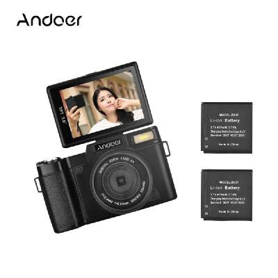 "Andoer R1 1080P 15fps Full HD 24MP Digital Camera Cam Camcorder 30"" Rotatable LCD Screen Anti-shake 4X Digital Zoom Retractable F"