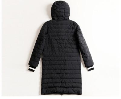 Fall&winter 2018 new European&American fashion slim cap hot style medium long style womens coat