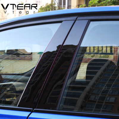 Vtear For Hyundai creta ix25 2016-2019 car window BC column decorative sticker trim mirror reflection panel Exterior accessories