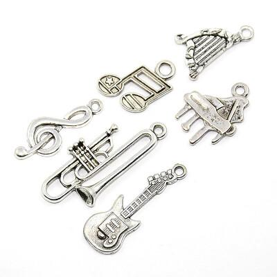 PH PANDAHALL 200g Antique Silver Random Mixed Alloy Sport Theme Charms Metal Pendants
