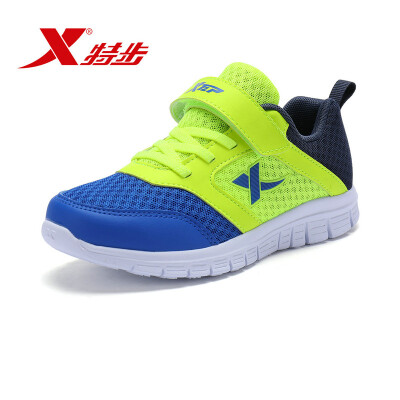 Special step childrens shoes childrens sports shoes boys big childrens sports&leisure shoes color matching running shoes 683315119949 blue green 38 yards