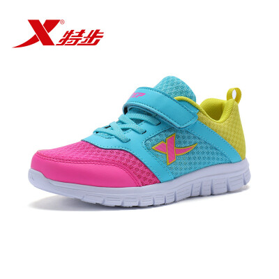 Xtep XTEP childrens sports shoes girls sports shoes color matching running shoes 683314119500 Lan Huang 38 yards