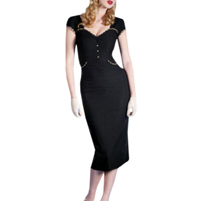 Lovaru ™New 2015 fashion Cultivate one's morality short sleeve dress simple pure color OL style fashion pencil dress