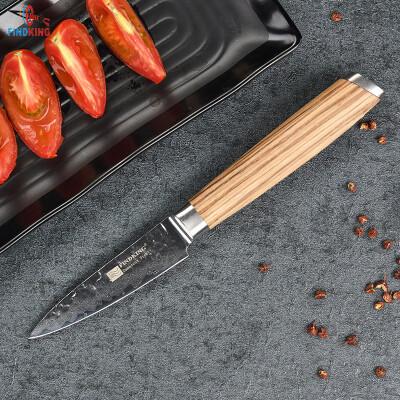 Findking бренд Дамаск нож 3.5 дюймов фрукты нож Зебра деревянный Дамасская сталь кухонные ножи нож для очистки овощей