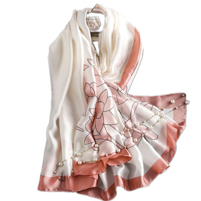 Шарфы Wrap Shawl Silk-Satin Scarf Women Ladies Soft Long Printing (180 см * 90 см)