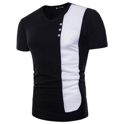 Summer Mens Fashion Casual T Shirt Short Sleeve Pullover Tops