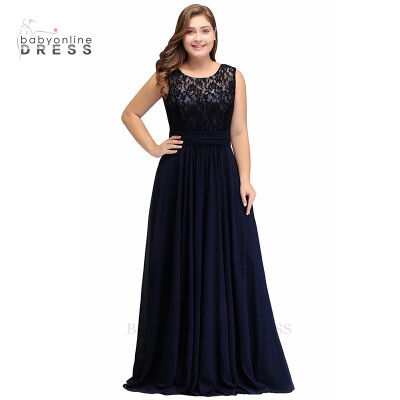2 styles Royal Blue 2018 Mother Of The Bride Dresses Plus size A-line Chiffon Lace Long Elegant Groom Mother Dresses Wedding