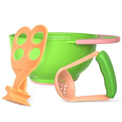 Xinmiao Xinmiao non-slip food grinding bowl baby food supplement tableware baby newborn food supplement grinder set