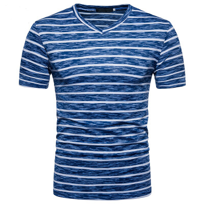 JCCHENFS 2018 Summer Brand Mens Short T-Shirt Fashion Striped V-Neck Hip Hop Funny T Shirts Casual Men Short Fitness Tops