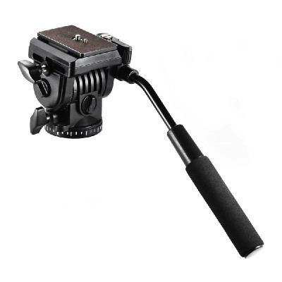 Andoer ABS 360° Fluid Drag Video Action Head Panoramic Hydraulic Damping Photographic Head for Canon Nikon Sony DSLR Camera Camcor