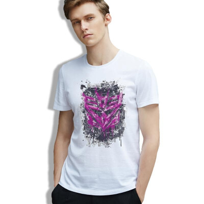 Men Tee Movie Transformers Symbols Pop Culture Megatron Robots 80s TV Tees Man Cotton Print Fashion O Neck Clothes