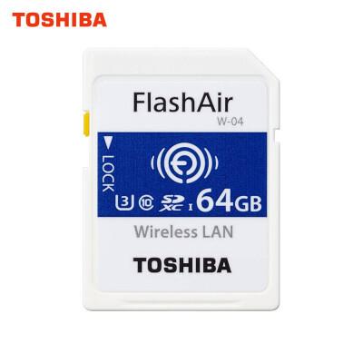TOSHIBA WIFI Wireless SD Card 64GB 32GB FlashAir High Speed SDHC U3 Memory Card SLR Camcorder Memory Card Class3 4K SD Card