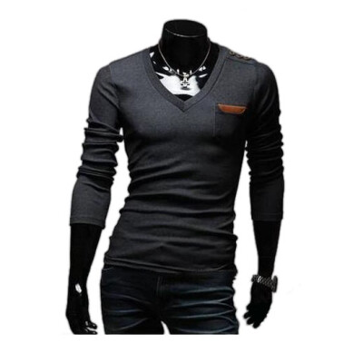 Zogaa New Mens T-Shirt Fashion Long Sleeve