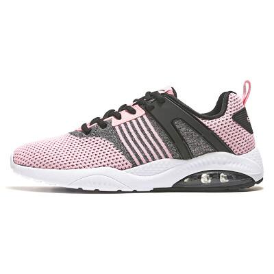 Hongxing Erke womens shoes casual fashion student sports shoes female half palm cushioning cushion female running shoes 52118320107 Christmas powder 39
