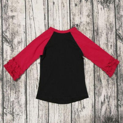 Casual Toddler Baby Girl New Year Ruffle & Long Sleeve Tops Tee Shirt Clothes US