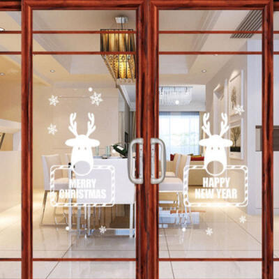 Merry Christmas Window Glass Decor Decal Christmas Wall Art Quote Sticker
