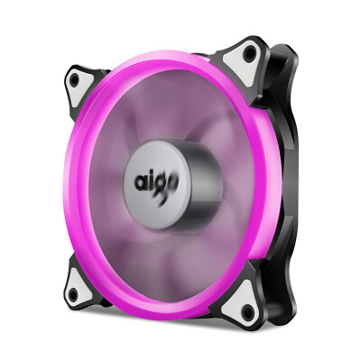 Aigo Halo LED Ring Fan 120mm 12cm PC CPU Computer Case Cooling Neon Quite Clear Fan Mod 4 Pin3 Pin Purple