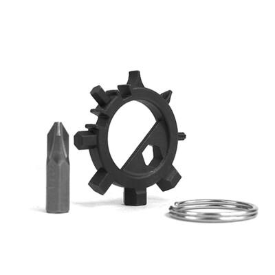 EDC Gear Outdoor Multifunctional Octopus Tool Stainless Steel Screwdriver Head Carry Portable Bicycle Repair Equipment Key Ring Ke