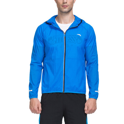 ANTA (ANTA) men' clothing 15635641-1 hooded cardigan jacket jacket Guangzhi Green
