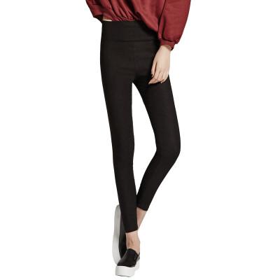 Nanjiren Slim Cropped Trousers Women High Waist Leggings