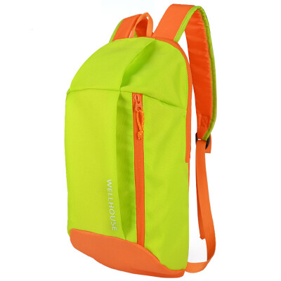 WELLHOUSE backpack outdoor shoulder bag camouflage student bag travel bag riding bag men&women casual bag packet green fruit