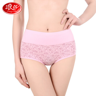 Langsha ladies panties womens high waist cotton sexy large size breathable tummy hip briefs 4 mixed color 160M