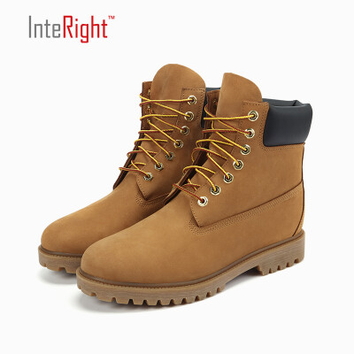 INTERIGHT Men Waterproof Premium Leather Casual Boots