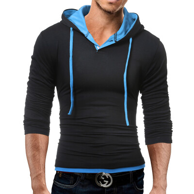 Male 2017 Brand Long Sleeve Soild Color Cotton T Shirt V-Neck Slim Men T-Shirt Tops Fashion Mens Tee Shirt T Shirts 3XL