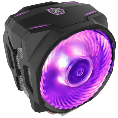 Cooler Master T610P CPU Air Cooled Radiator (supports I9 2066, AM4 / 6 heat pipe / 12CM dual fan / synchronous 4-panel RGB lamp)