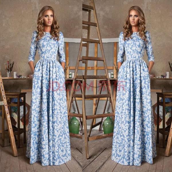 Платья длиные летние