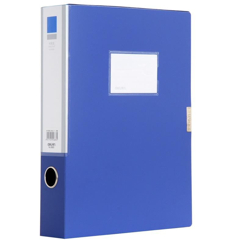 JD Коллекция deli гастроном 5606 основная хозяйственная серия pp толщиной velcro файл коробка а4 55мм темно серый single нагруженный