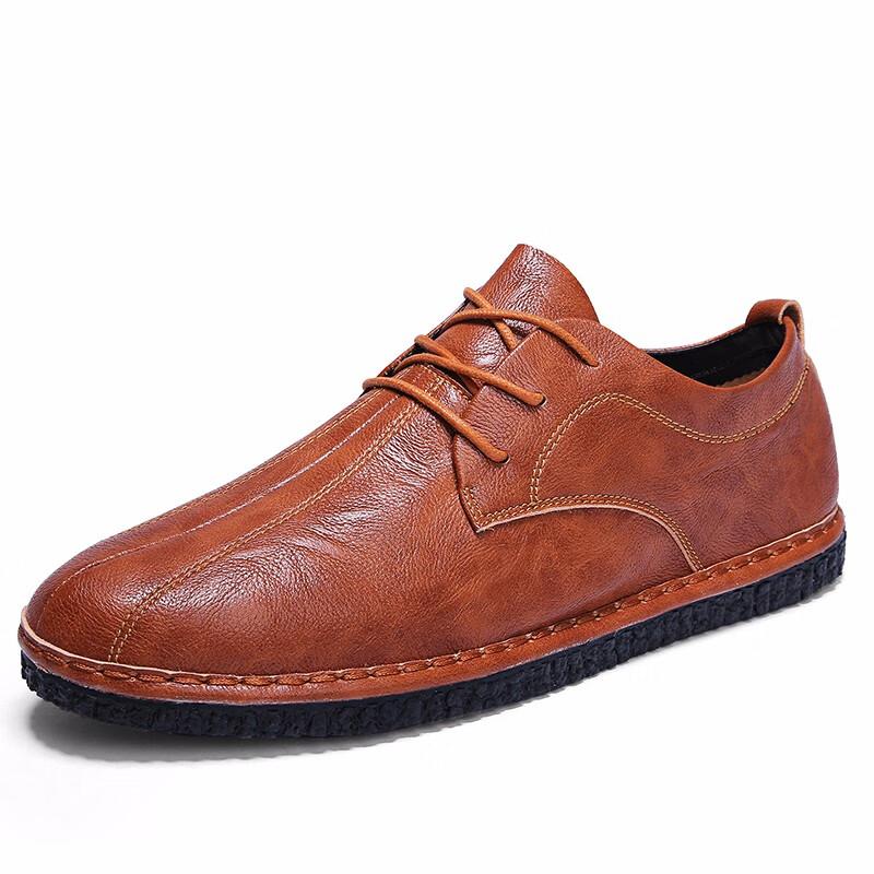 Мужская обувь рабочая обувь формальная обувь мужская мода обувь luoweikedeng Brown 43 фото