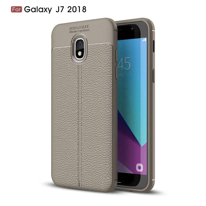 Задняя обложка для Samsung Galaxy J7 2018 Корпус Fecoprior Серый фото