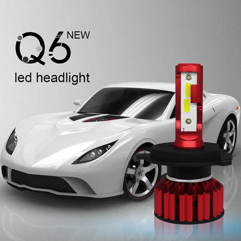 1pair Автомобильная лампа накаливания 12V 50W 6000K прожектор H4 Светодиодный автомобиль Фара Huiermeimi H4 фото