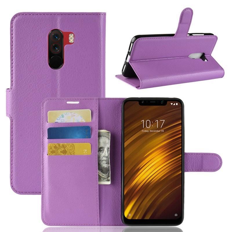 WIERSS Пурпурный для Xiaomi Poco F1 для Xiaomi Pocophone F1 WIERSS Кошелек телефонный чехол