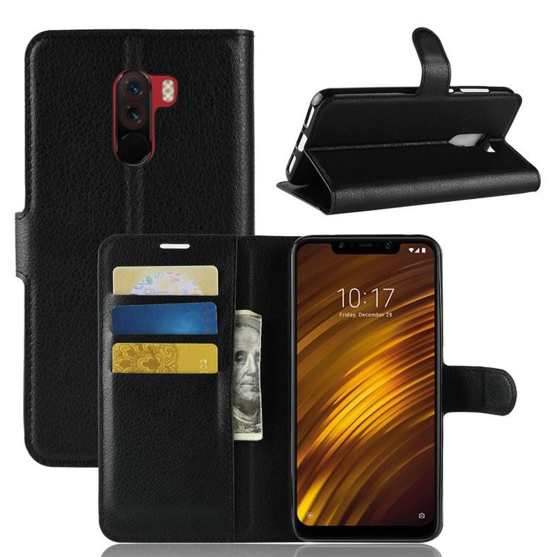 WIERSS черный для Xiaomi Poco F1 для Xiaomi Pocophone F1 WIERSS Кошелек телефонный чехол