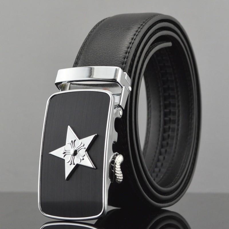Кожаный ремень xsby Black фото