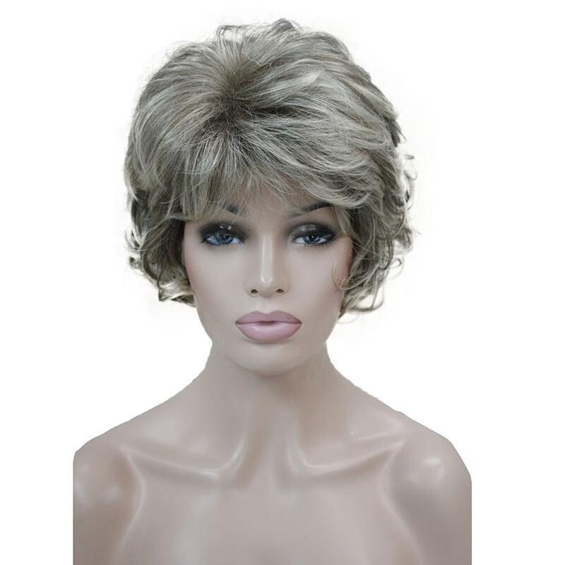Короткие вьющиеся блондинки парики короткие коричневые парики короткие серые парики StrongBeauty 230T короткий фото