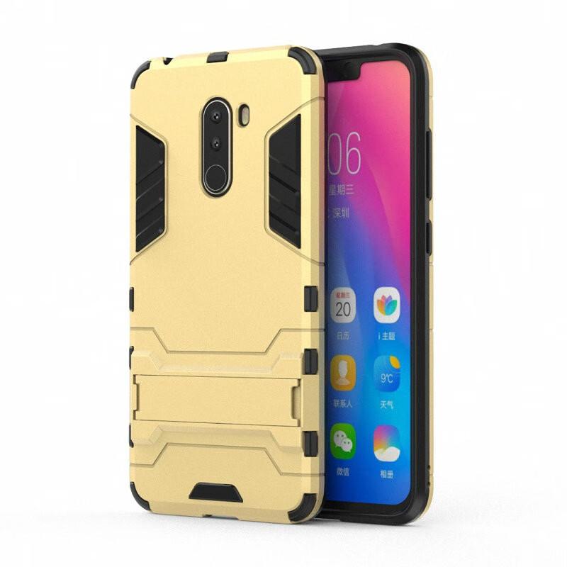 Для Xiaomi Pocophone F1 Ударопрочный жесткий чехол для телефона WIERSS Золото для Xiaomi Pocophone F1 фото
