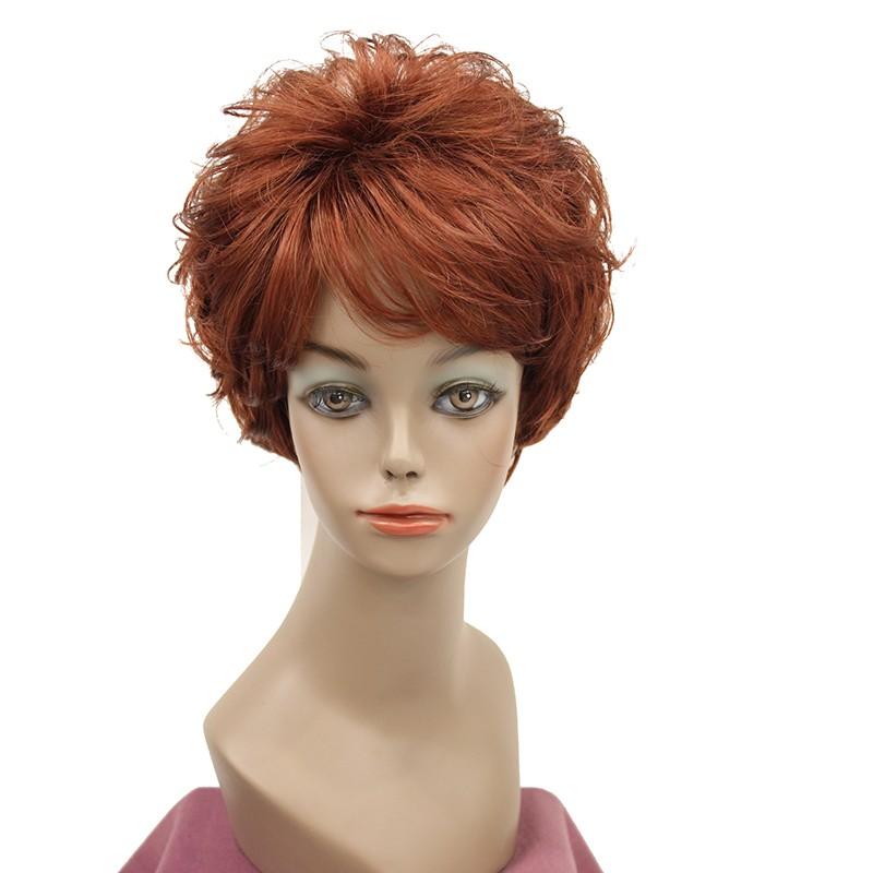 Короткие вьющиеся блондинки парики короткие фигурные красные парики короткие фигурные золотые парики StrongBeauty 130 короткий фото