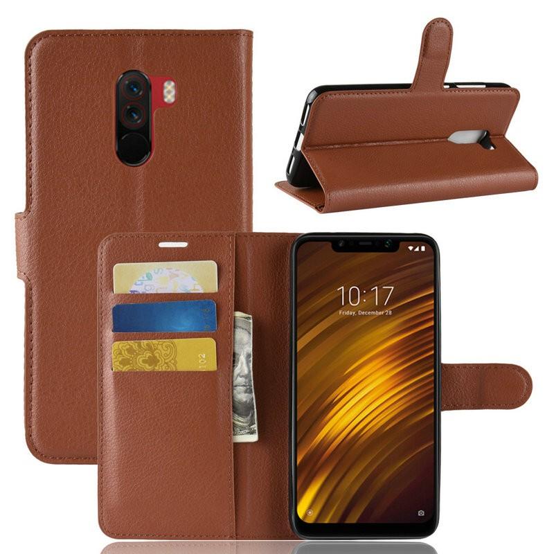 WIERSS коричневый для Xiaomi Poco F1 для Xiaomi Pocophone F1 WIERSS Кошелек телефонный чехол