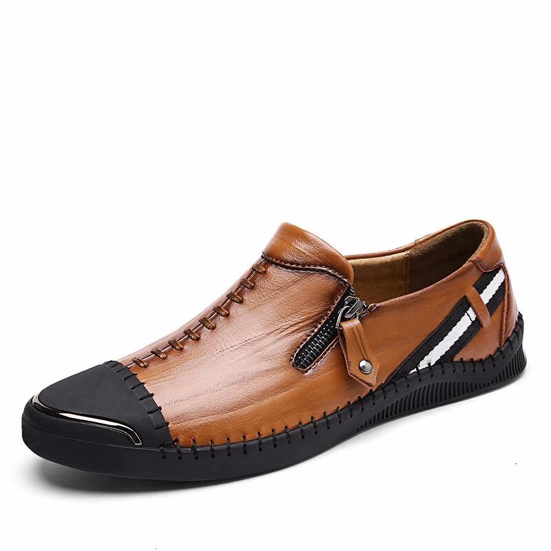 Скольжение на обувь мужчины Обувь для вождения Кожаная обувь формальная обувь мужчины формальная обувь мужчины luoweikedeng Brown 40 фото