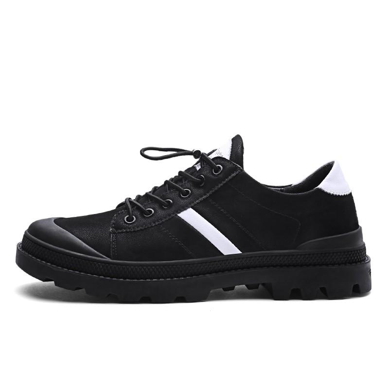 Мужчины одевают ботинки кожаные ботинки способа mens вскользь ботинки горячее сбывание luoweikedeng White 41 фото