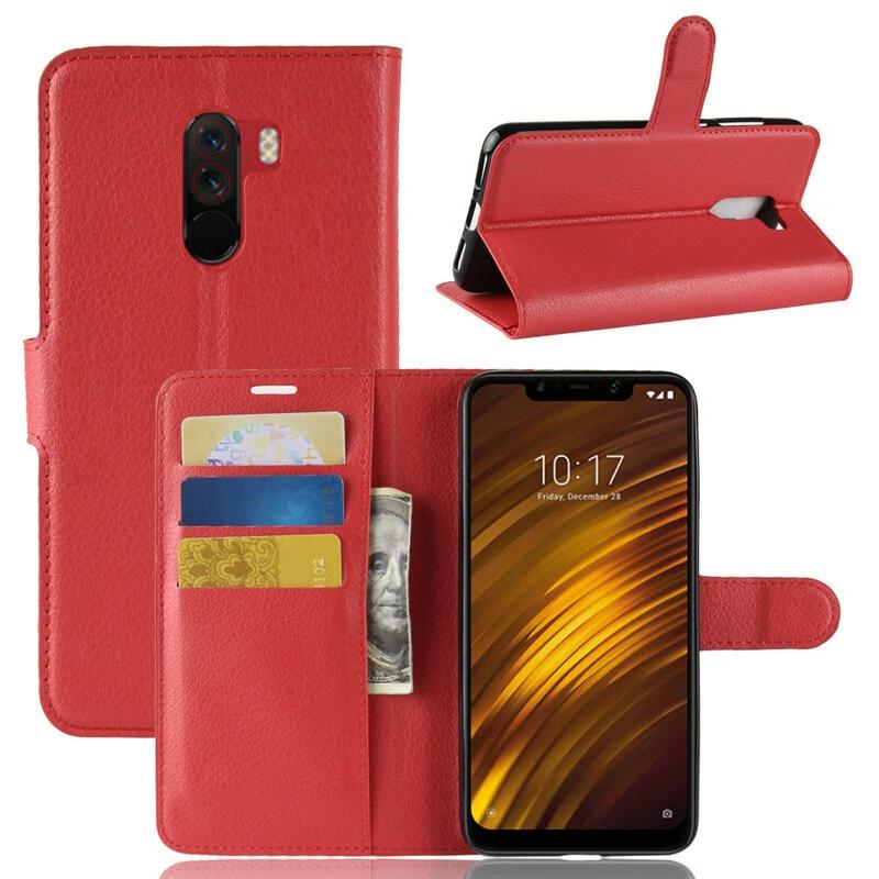 WIERSS красный для Xiaomi Poco F1 для Xiaomi Pocophone F1 WIERSS Кошелек телефонный чехол