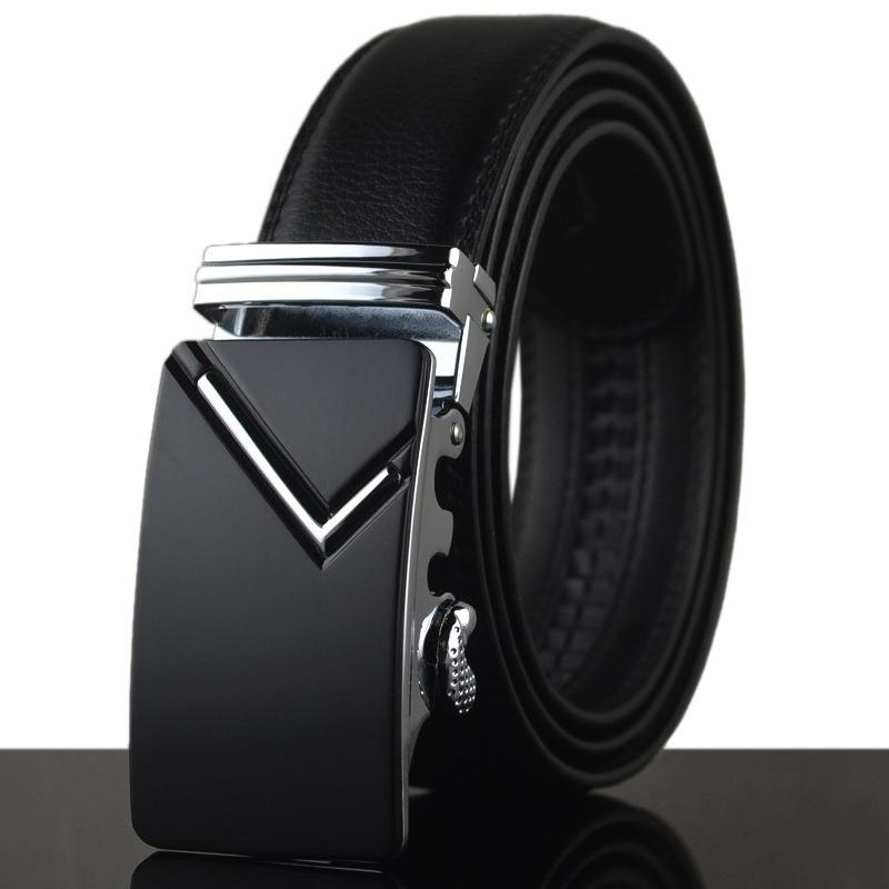 Кожаные ремни Автоматическая пряжка xsby Black фото