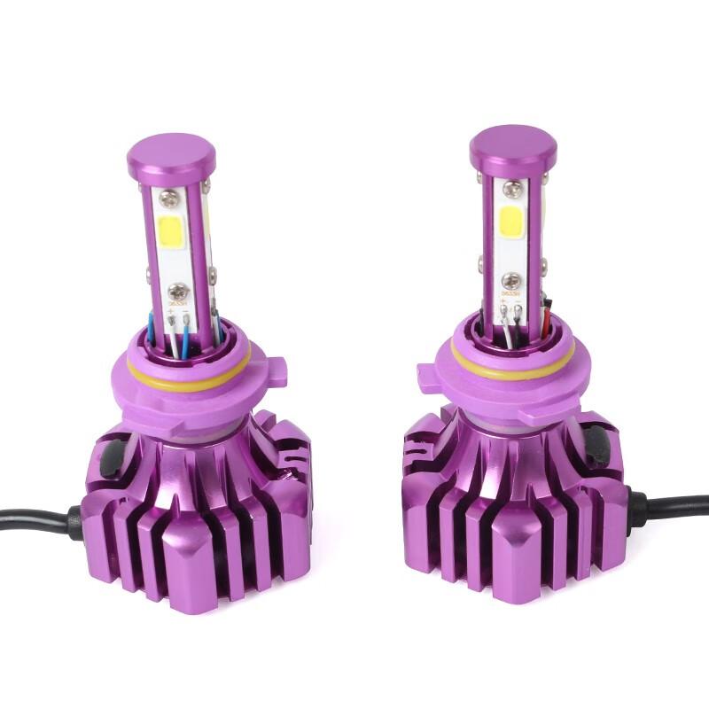 LUTU Фиолетовый цвет 9006 9006 B3 2Pcs Автомобильная светодиодная лампа 6500K 36W