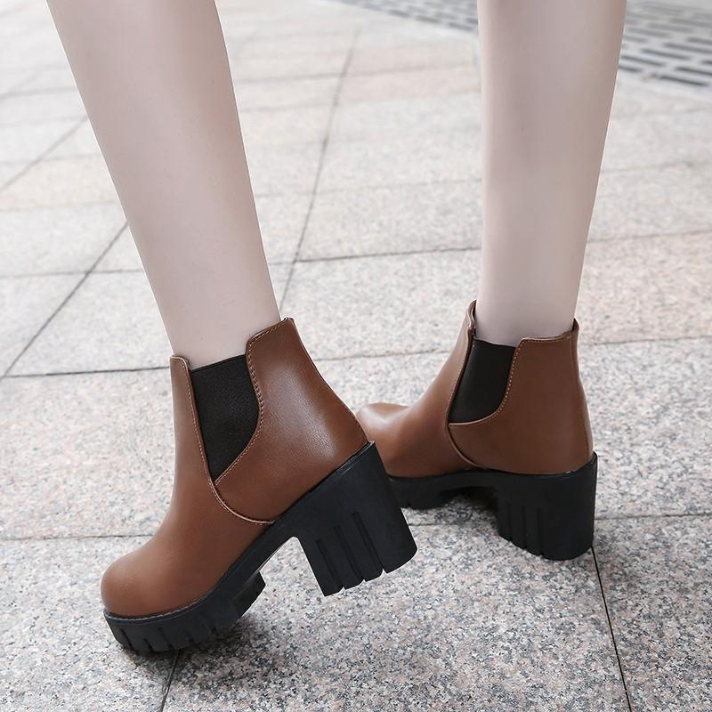 Женский британский стиль студента корейской версии MZGM Цвет коричневый 37 фото