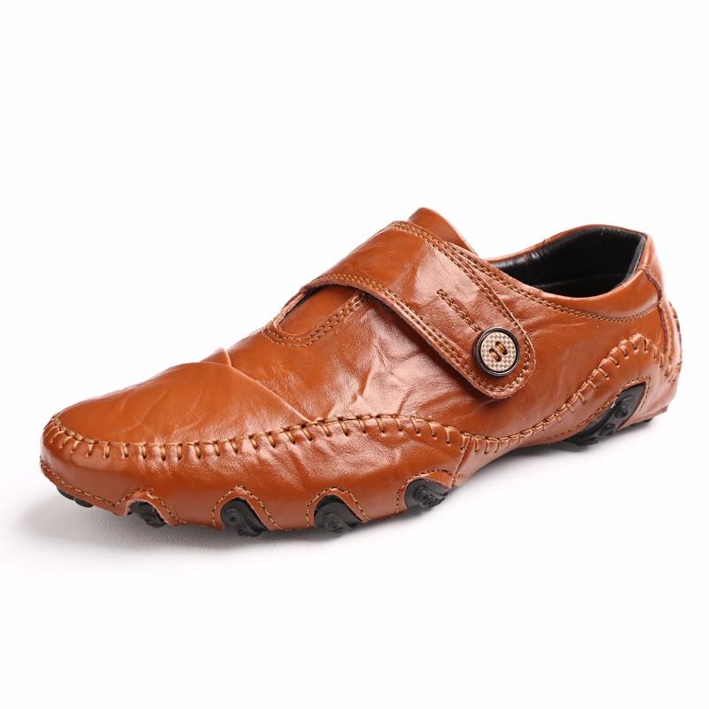 Скольжение на обувь мужчины Обувь для вождения Кожаная обувь Официальная обувь Мужская обувь Мужская обувь Мокасины Повседневная обувь Кожаная обувь Для мужчин рабочая обувь luoweikedeng Brown 39 фото